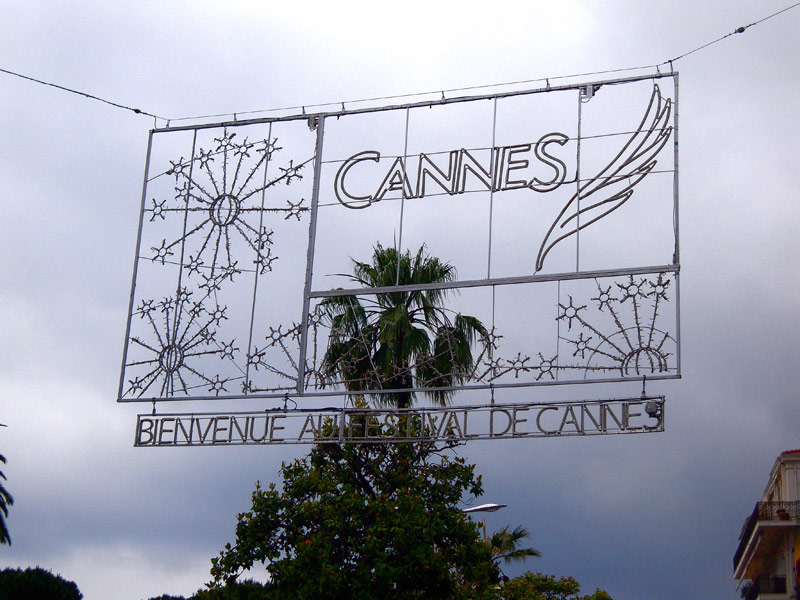 Cannes film festival sign