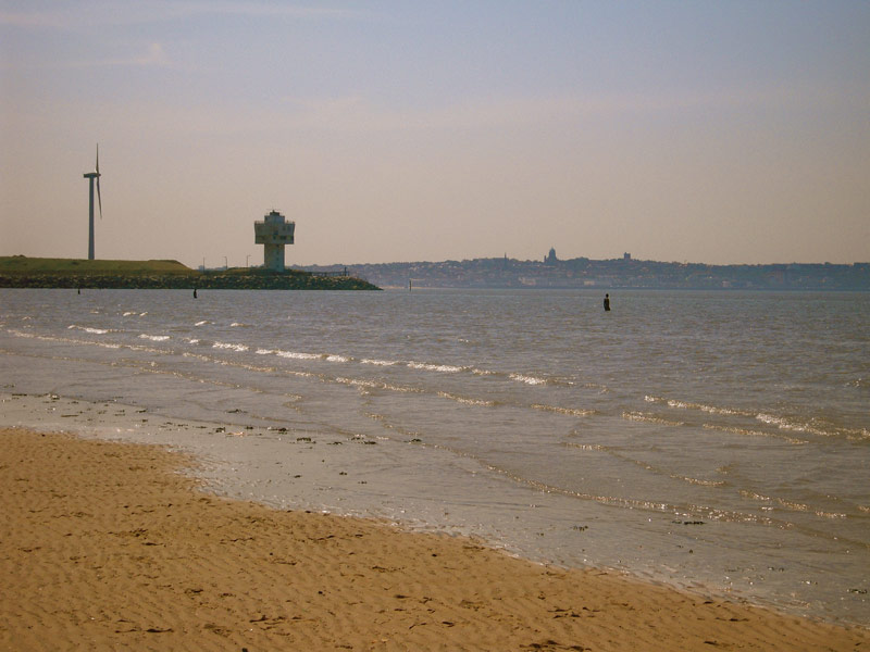 Crosby beach near Liverpool